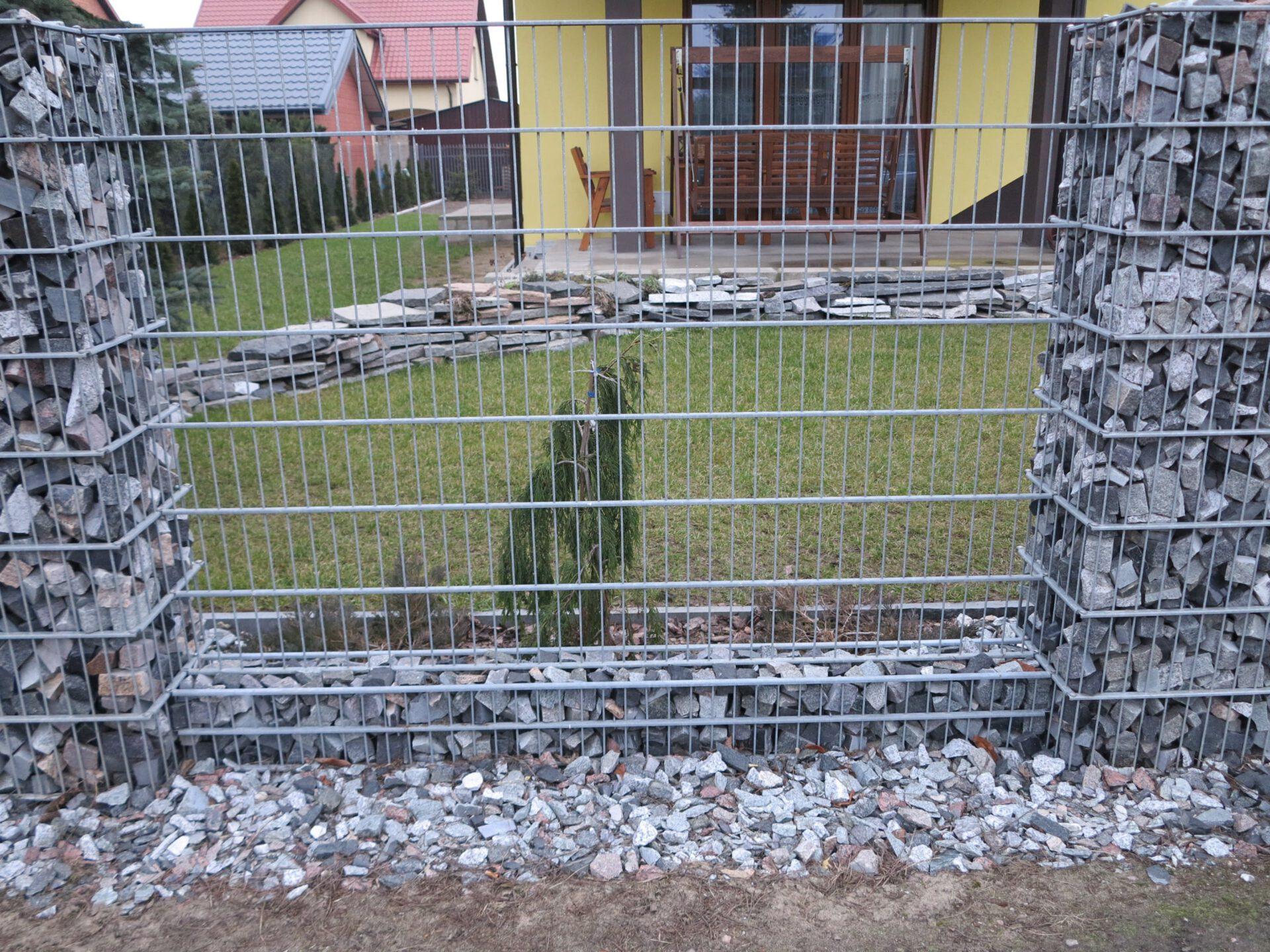 Gabiony w ogrodzie Katowice