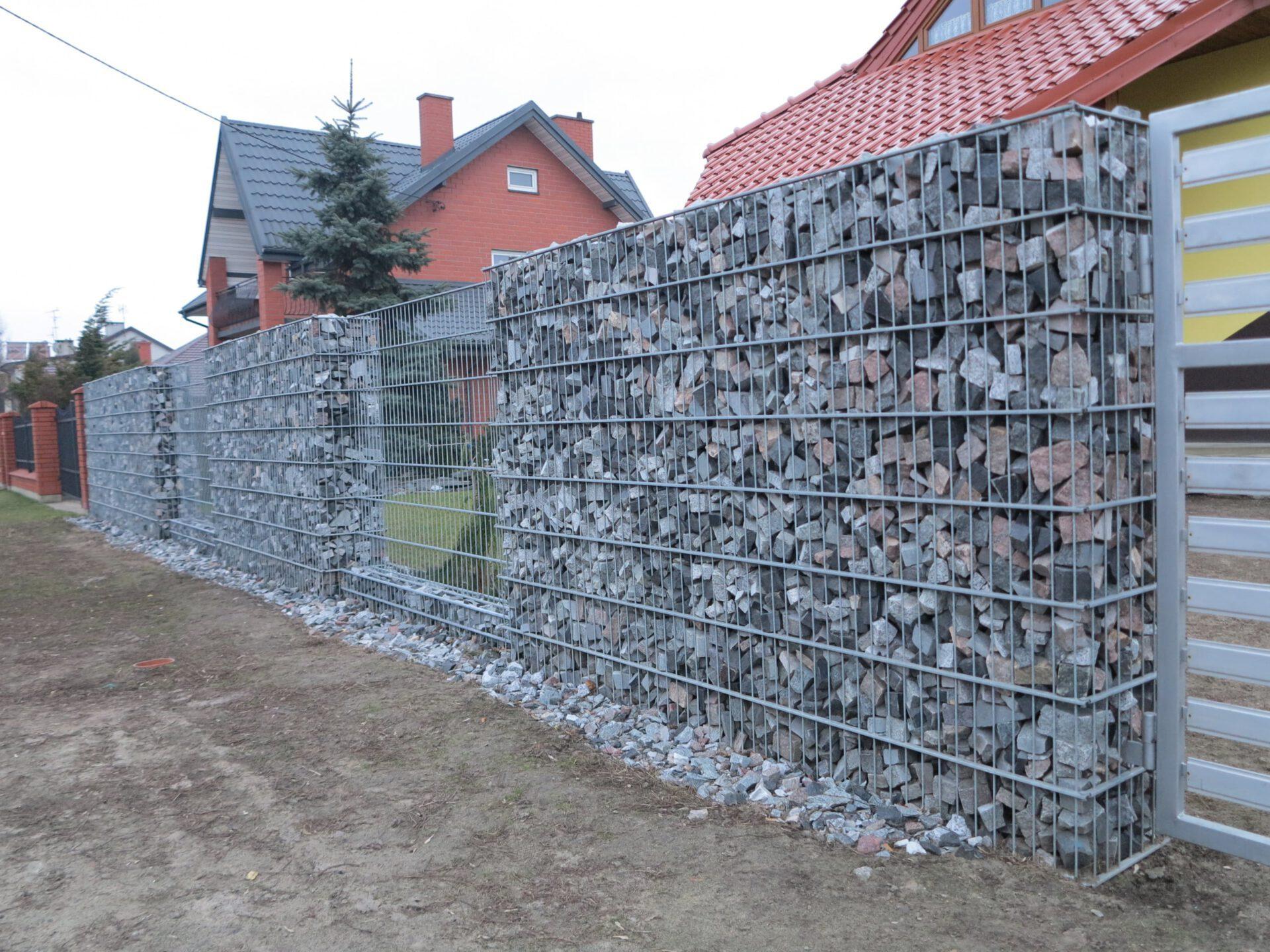 Ogrodzenie gabionowe w Katowicach